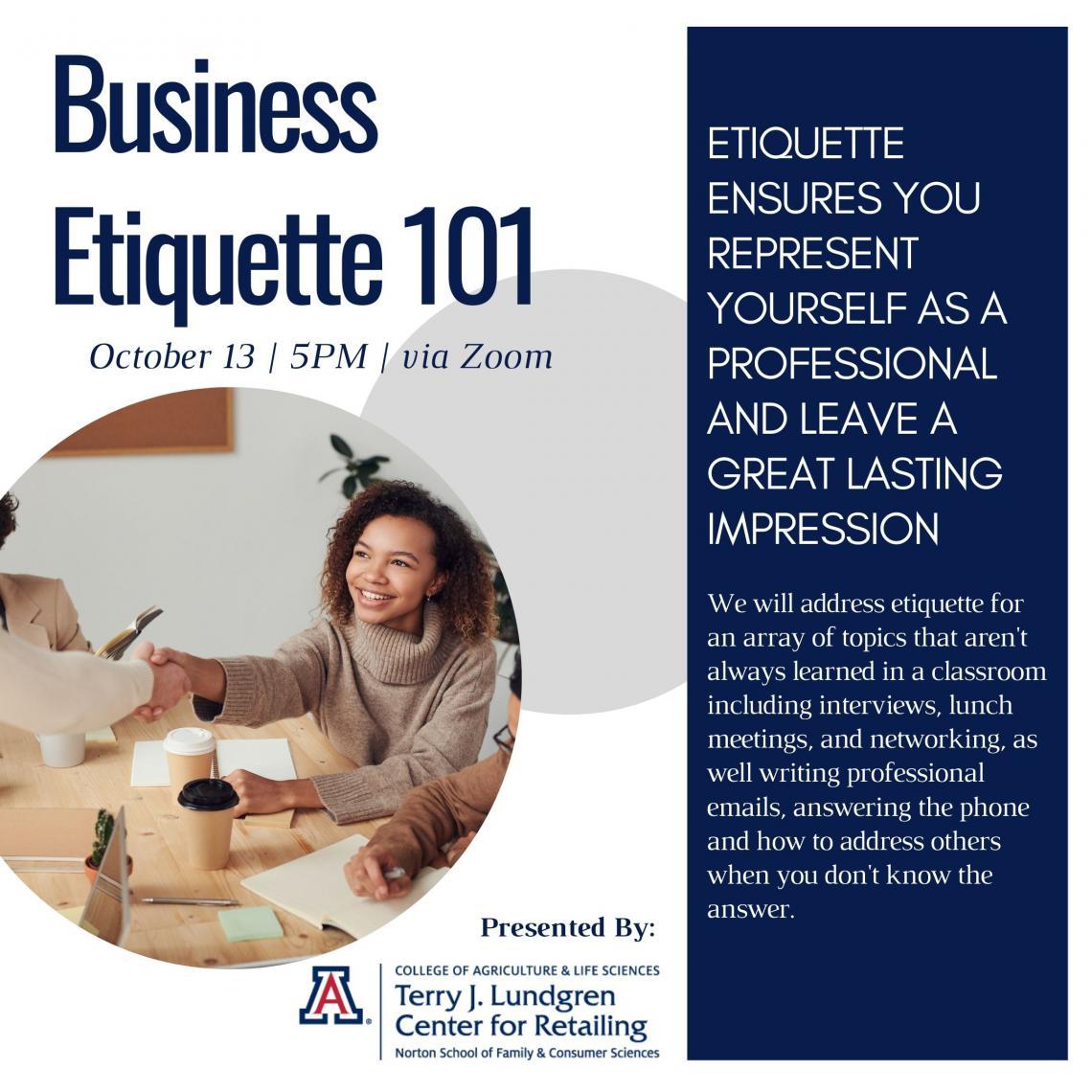 Flyer for Business Etiquette 101