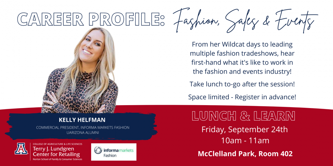 Flyer of Career Profile Lunch & Learn with Kelly Helfman
