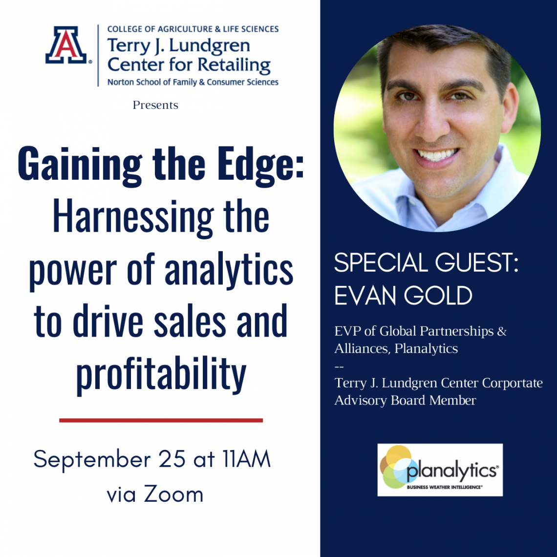 Gaining the Edge: Harnessing the power of analytics to drive sales and profitability with Planalytics' Evan Gold Flyer