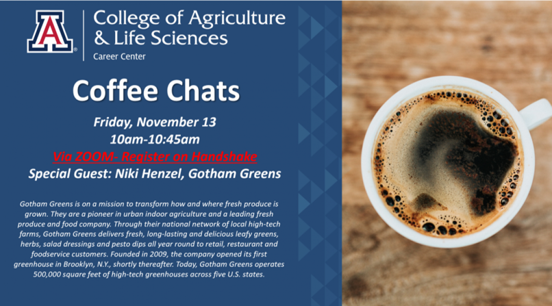Coffee Chat Flyer: Niki Henzel from Gotham Greens
