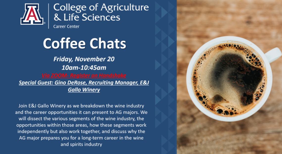 Coffee Chat Flyer: E&J Gallo Wines