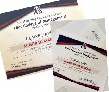 Image of Eller Marketing Certificates
