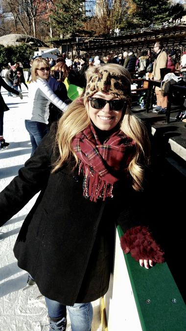 Lauren Richardson ice skating in New York City