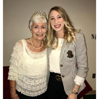 Karlie Fisher and her grandma